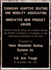 VG Arm Trough Innovative New Product Award
